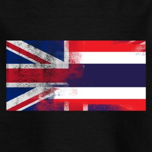 British Thailand Thailand Half Half UK Flag - T-skjorte for barn