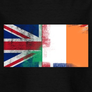 British Irish Half Ireland Half UK Flag - T-shirt barn