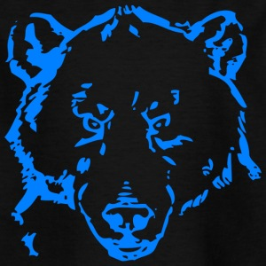 Bear head blue - Kids' T-Shirt