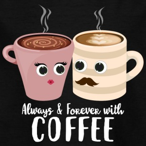 Always with coffee - Kids' T-Shirt