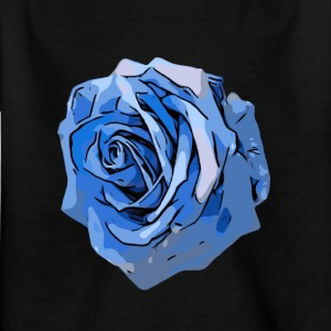 Blue Rose rand - T-skjorte for barn