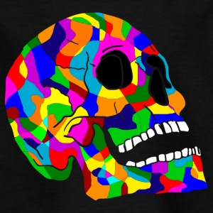 Colorful skull skulls Skull - Kids' T-Shirt