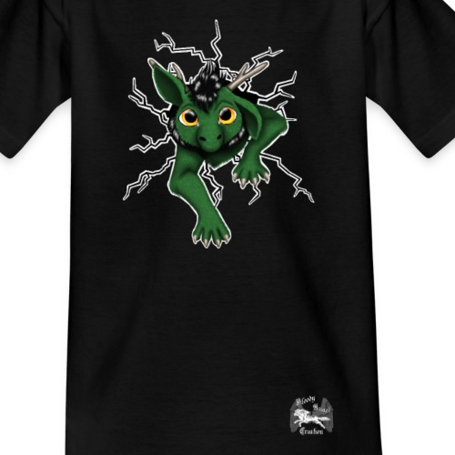 Drachi stuck green weißlo - Kinder T-Shirt