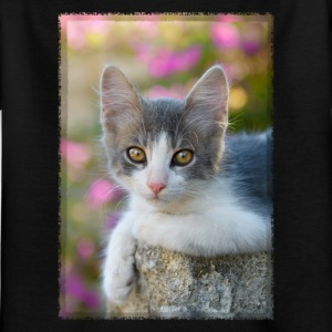Cute gray-white kitten - Kids' T-Shirt