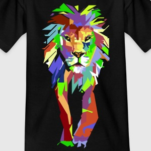Lion Pop Art - T-skjorte for barn
