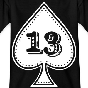 Ace of spades with number 13 - Rock and roll hip hop - Kids' T-Shirt