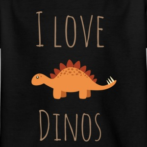 I love Dinos - Kinder T-Shirt