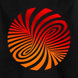 psychedelic optical type swirl orange 70s style fu - Kids' T-Shirt