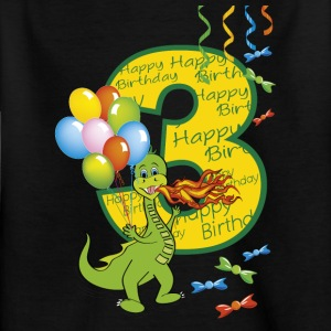Third birthday 3 year old dragon - Kids' T-Shirt