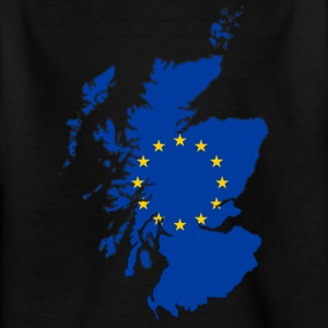 Scotland Map with EU Flag - Kids' T-Shirt