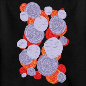 abstrakte Blumen 001 - Kinder T-Shirt