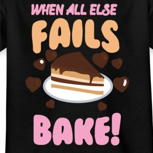 If all else fails cheek! - Kids' T-Shirt