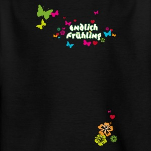 Finally spring blossoms butterflies Easter - Kids' T-Shirt