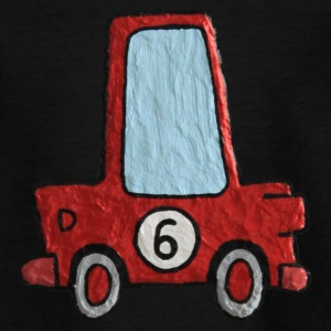 Enillo racecar red number 6 - Kids' T-Shirt