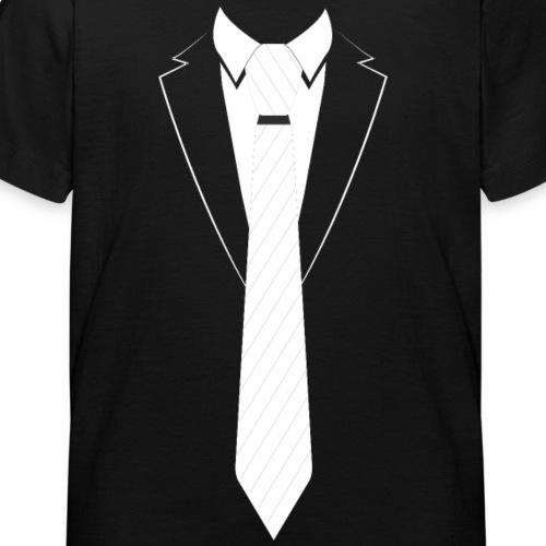 Anzug Smoking Shirt Karneval Krawatte - Kinder T-Shirt