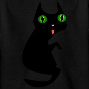 Black cat 2400px - Kids' T-Shirt