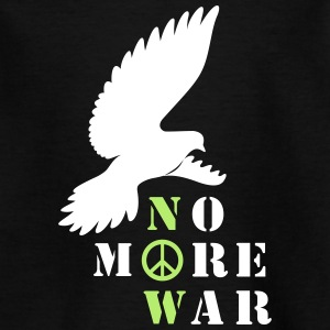 No More War Now Silhouette - Kinder T-Shirt