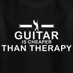 Guitar is cheaper than therapy - Kids' T-Shirt