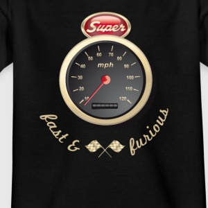 Benzin Oldtimer Auto car schnell Tacho Tuning km/h - Kinder T-Shirt