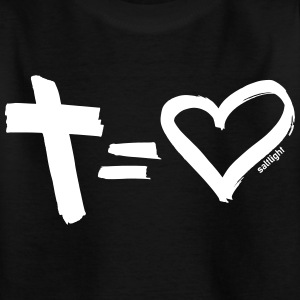 Cross = Heart WHITE // Kreuz = Liebe WEISS - Kinder T-Shirt