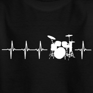 I love drums (drum heartbeat) - Kids' T-Shirt