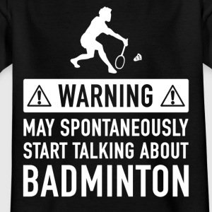 Funny Badminton Player present - T-shirt barn