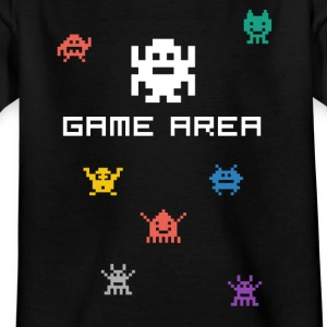 gamearea pixelart video game console pc retro nerd - Kids' T-Shirt