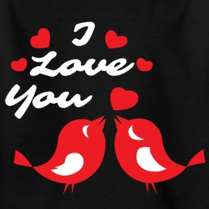 Turteltauben I love you - Kinder T-Shirt