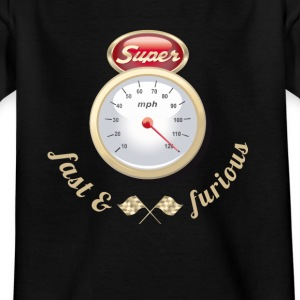 Auto Tuning Oldtimer fast tacho gasoline race k - Kids' T-Shirt
