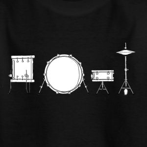 Drums Black & White - Kids' T-Shirt