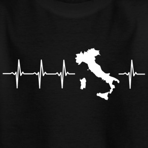 Italy, heartbeat design (I love Italy) - Kids' T-Shirt