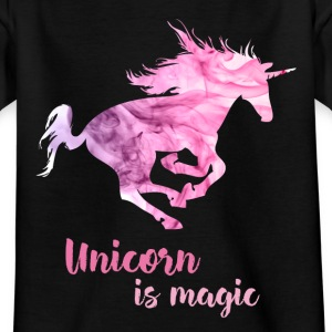 Unicorn wild pink magic smoke pink mystical girl - Kids' T-Shirt