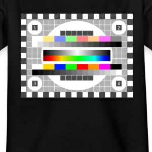 testbild tv, radio, television earlier retro colors - Kids' T-Shirt