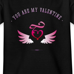 Love Valentine Heart pink romantic girlfriend before - Kids' T-Shirt