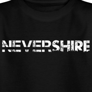 Nevershire Logo White - Kinder T-Shirt