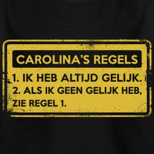 Carolina: s regler. Original gåva. - T-shirt barn