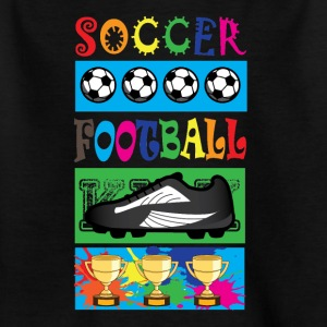 Soccer Football - KIDS SOCCER - T-skjorte for barn