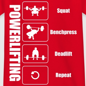 Powerlifter Lifestyle - Kinder T-Shirt