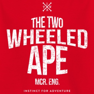 Two Wheeled Ape Logotype Biker T shirt - Kids' T-Shirt