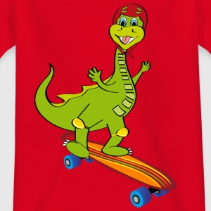 dinosaur skateboard - T-skjorte for barn