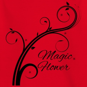 Magic Flower black - Børne-T-shirt