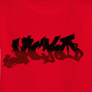 Street Style Black / Red - Kinderen T-shirt