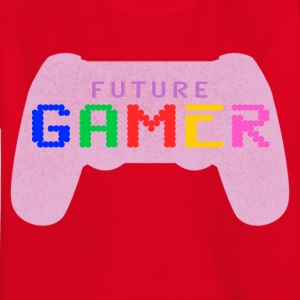 Pink Future Gamer Design by JuiceMan Benji Gaming - Kids' T-Shirt