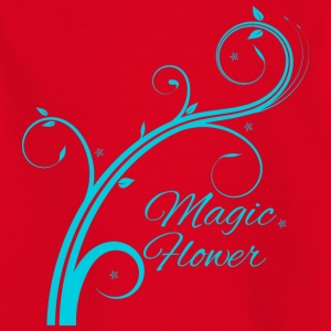Magic Flower blå - Børne-T-shirt