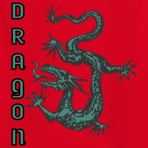 down looking dragon color - Kids' T-Shirt