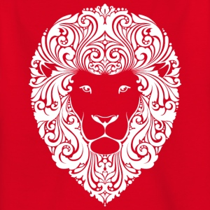 lion with ornament hairs 2 - Kids' T-Shirt