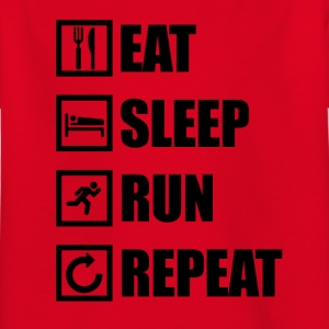 EAT SLEEP RUN REPEAT - Kids' T-Shirt