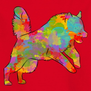 Malamute Multicolor - T-skjorte for barn