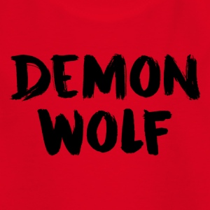 Demon Wolf Text Design Black - Kids' T-Shirt
