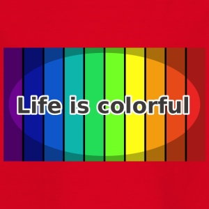 Life is colorful - Kinder T-Shirt